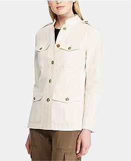LAUREN RALPH LAUREN 女式 Vilhelmina 春季牛仔夹克-6-WINTER 奶油色