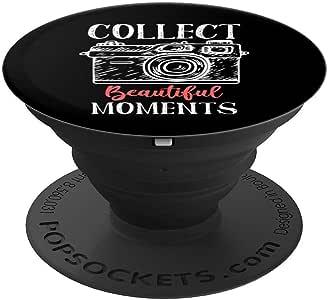 摄影师礼物收集美丽瞬间爆米袜手机和平板电脑握架260027  黑色