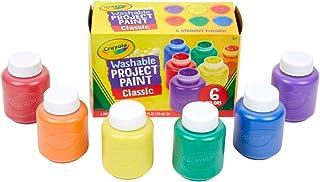 Crayola 绘儿乐 可水洗儿童颜料,6件,在家使用,绘画用品,礼物