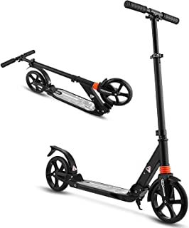 WeSkate Scooter 适合成人/青少年,大轮滑板车,易折叠滑板车,耐用推力滑板车支撑,220磅,适合 8 岁以上儿童