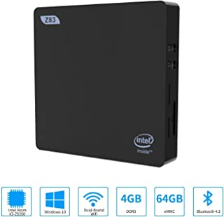 迷你电脑,Intel x5-Z8350 高清显卡迷你台式电脑,Windows 10 位64位,4GB/64GB 存储/4KHD/双频 WiFi AC/蓝牙 4.2
