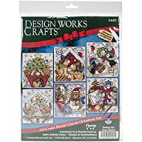 "Home For Christmas Ornaments Counted Cross Stitch Kit-3.5""X4"" 14 Count Set Of 6"