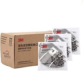 3M口罩 9041V 呼吸阀活性炭口罩 KN90防护级别 90% 过滤效率 耳戴式独立包装 15只/盒(亚马逊自营商品, 由供应商配送)
