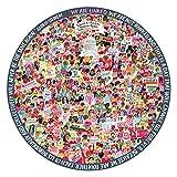 eeBoo 女士三月圆形拼图,500 片