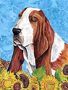 Caroline's Treasures Basset Hound Flag Made or Printed in the USA 多色 大