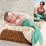 sunbaby 新生儿照片道具婴儿毛线材质摄影服装可爱动物风格婴儿钩针服装