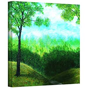 ArtWall Herb Dickinson 'Christians Road' Gallery Wrapped Canvas Art, 24 by 24-Inch