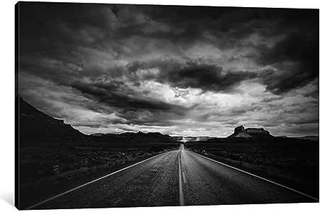 iCanvasART 11565-1PC6-18x12 Long Stretch of Road Canvas Print by Dan Ballard, 1.5 x 18 x 12-Inch