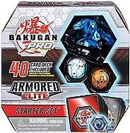 Bakugan Pro Armored Elite 入门套装,含 Trox Ultra、Nillious、Pharol、40 张卡片等