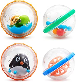 Munchkin 漂浮和玩耍泡洗澡玩具 4 count