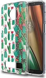 Eouine 摩托罗拉 Moto Z3 Play Case, 柔软 TPU 硅胶Ktm-mtZ3Pla Cactus