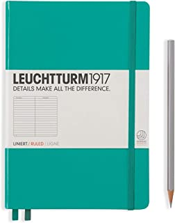 LEUCHTTURM1917 灯塔中开横格笔记本翠绿色硬封皮(A5)