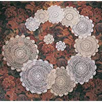 TCC Handmade, Crochet Lace Doily. 100% Cotton Crochet. White, 4 Inch Round. Four pieces