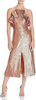 C/MEO COLLECTIVE 女式亮片褶皱 A 字型中长晚礼服
