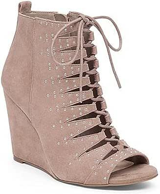 Jessica Simpson 女士 Barlett 坡跟鞋 温暖灰(Warm Taupe) 9.5 M US