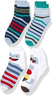 Amazon Brand - 斑点斑马女孩小童舒适袜子 4 双装