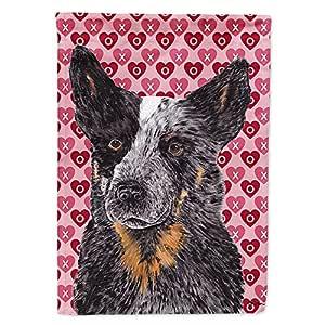 Caroline's Treasures SC9243CHF Australian Cattle Dog Hearts Love and Valentine's Day Canvas House Flag