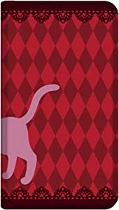 智能手机壳 手册式 对应全部机型 薄型印刷手册 cw-166top 套 手册 猫 超薄 轻量 UV印刷 壳WN-PR204829-MX Huawei P8lite ALE-L02 B款