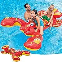 Tieesa Lobsters 充气骑行,趣味夏季大泳池漂浮,充气骑行水垫,充气泳池漂浮筏,游泳泳池玩具,成人和儿童水上活动