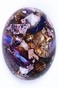 40x30mm 椭圆形宝石 CAB 平背半宝石戒指面 Purple Sea Sediment Jasper & Copper 40x30mm 40mmCAB