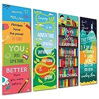 Sproutbrite 教室垂直横幅/海报装饰品 - 教师、学生的教育、激励和激励增长意图 - 4 个海报包 - 33.02 cm x 99.06 cm 每个