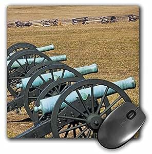 """3D 玫瑰哑光鼠标垫 - 8 x 8 Arkansas Civil War Cannons Pea Ridge ParkUs04 Bja0002Jaynes Gallery 8 x 8"""""""