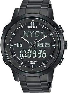 Pulsar 男士模拟石英手表不锈钢表带 PZ4061X1