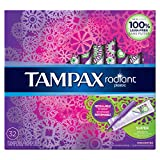 tampax radiant 塑料无味卫生棉条, 32, 6, 6