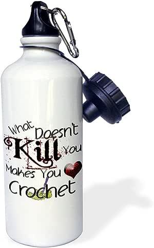 3dRose wb_185956_1 What Doesnt Kill You 钩针编织带挂钩 - 运动水瓶,21 盎司