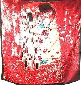 丝绸沙龙精美艺术品 * 丝巾披肩经典艺术 Gustav Klimt the Kisses A371