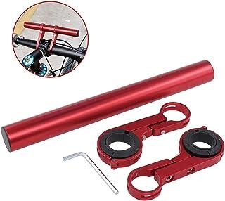XtremeAmazing 自行车车把延长器铝合金自行车双夹支架用于固定手电筒速度计 GPS 手机支架...