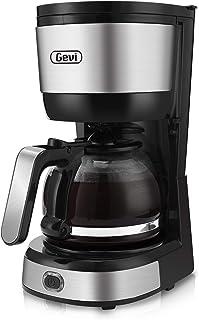 Gevi 成人和儿童牙刷Gevi 4 杯咖啡机,自动关闭,小滴滤咖啡机,紧凑型咖啡壶咖啡机,带锥形过滤器,玻璃水瓶和热盘,不锈钢。