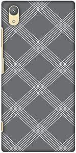 amzer 修身手工定制设计师硬壳手机壳后盖壳 skin 适用于索尼 Xperia XA1PLUS Carbon Fibre Redux Stone Gray 5