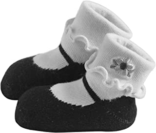 Jazzy Toes 人造丝系列玛丽珍袜子套装 - 黑色-6-12M