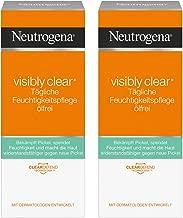 Neutrogena 露得清 Visibly Clear日常保湿霜 无油 — 水杨酸保湿霜 同时适用日间及夜间 2 x 50ml (新老包装交替发货)