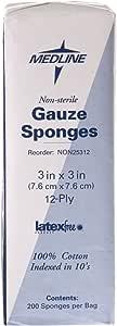 Medline Gauze Sponge 12 Ply, 4000 Count