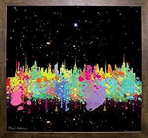 美国抽象公司 C T 加框印刷品 62.39 厘米 x 67.61 厘米 Mark Ashkenazi-MARASH143641 咖啡厅 Mocha 24.75x26.75 143641-54-13FUSA