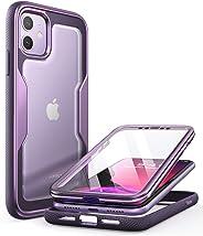 i-Blason Magma 保护套,适用于 iPhone 11 6.1 英寸(2019 版),重型保护,全身防撞保护壳,内置屏幕保护膜 紫色