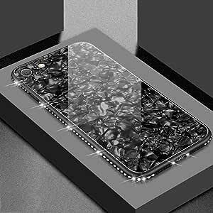 iPhone 超薄外壳设计闪耀迪亚曼特钢化玻璃后壳 iPhone 7/iPhone 8 黑色