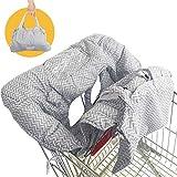 购物车罩,2 合 1 婴儿杂货车座椅套和高椅套,适用于儿童和幼儿