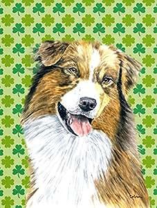 Australian Shepherd St. Patrick's Day Shamrock Flag 多色 大
