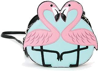 Pink Flamingo Love 单肩斜挎包
