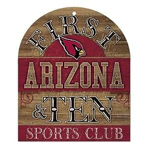 NFL Arizona Cardinals Wood Sign, 10 x 11-Inch