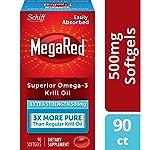 Megared 500mg 超强Omega-3 磷虾油,不返鱼腥味,90粒软胶囊