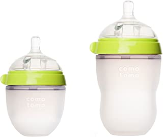 Comotomo - Natural-Feel Baby Bottles - 8oz Bottle + 5oz Bottle Pack - Green
