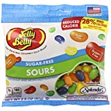 Jelly Belly Sugar-Free Sours Jelly Beans, 5 Sour Flavors, 2.8-oz, 12 Pack