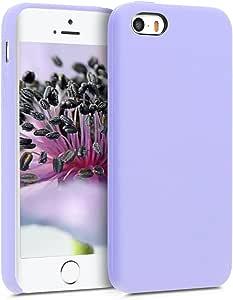 kwmobile TPU 硅胶手机壳适用于 Apple iPhone SE / 5 / 5S - 柔软灵活的橡胶保护壳 - 黑色42766.108_m000012 薰衣草
