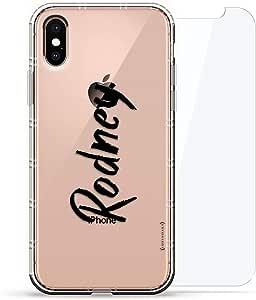 豪华设计师,3D 印花,时尚气袋垫,360 度玻璃保护套装手机壳 iPhoneLUX-IXAIR360-NMRODNEY1 NAME: RODNEY, HAND-WRITTEN STYLE 透明
