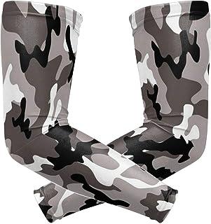 运动运动臂套鲨鱼潜水下游泳印花压缩袖套手臂保暖吸湿排汗紫外线*保护手套套