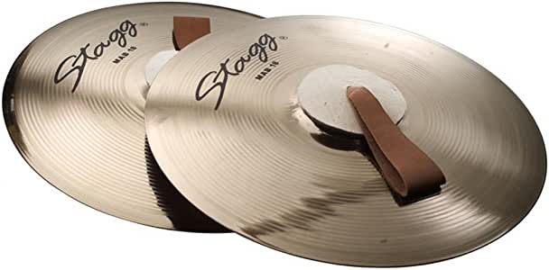 Stagg MAB 18 18-Inch Marching/Concert Cymbals Pair - Brilliant Finish